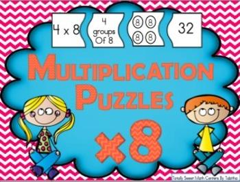 Multiplication 4 Piece Puzzles x8
