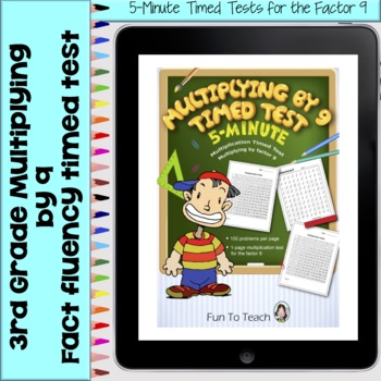 Multiplication 5-Minute Timed Test - Multiplying by 9 and