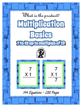 Multiplication ~ 7 to 12 to multiples of 12 ~ 144 Equation