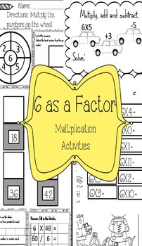 Multiplication Activites for number 6
