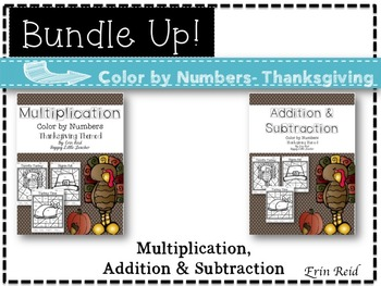 Multiplication, Addition & Subtraction Color by Numbers-Th