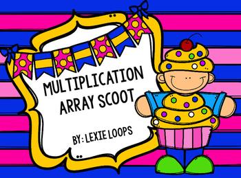 Multiplication Array Scoot TEKS:2.6A