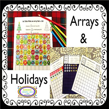 Let's Make Holiday & Everyday Arrays for Multiplication