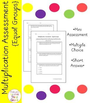 Multiplication Assessment - Equal Groups