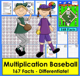 Multiplication Games: Baseball Activities Math Centers- 4