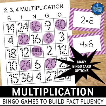 Multiplication Bingo Games