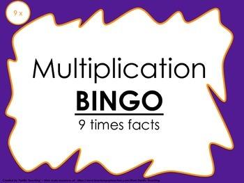 Multiplication Bingo 9x