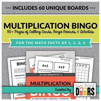 Multiplication Bingo: Factors of 1-4