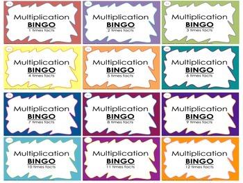 Multiplication Bingo Mega Bundle