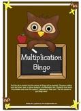 Multiplication Bingo Owl Theme