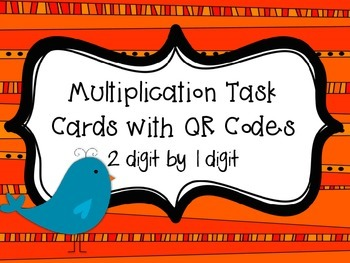 Multiplication Birdies Task Cards with QR Codes {2 digit b