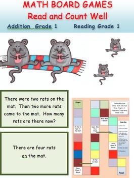 Addition Board Game Grade 1 Reading
