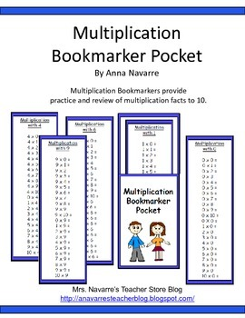 Multiplication Bookmarker Pocket