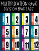 Multiplication and Division Brag Tags