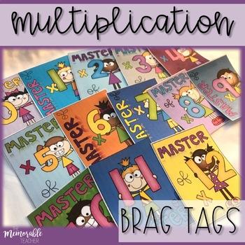 Multiplication Brag Tags