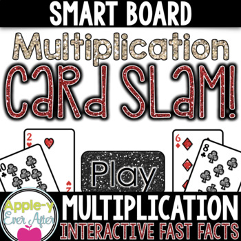 Multiplication Card Slam - SMART board and Projector Game