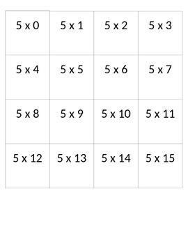 Multiplication Cards 5