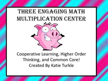 Multiplication Center Games Basic Facts and 2 digit by 1 d