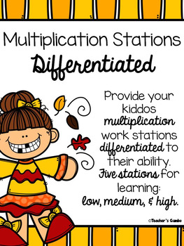 Multiplication Centers Differentiated - Work Stations for