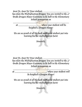 Multiplication Ceremony Invitations