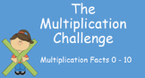 Multiplication Challenge Fact Practice: Timed Slides