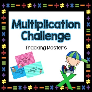Multiplication Challenge Tracking Posters