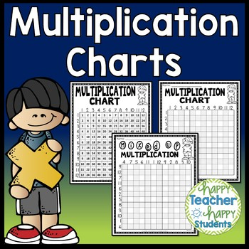 Multiplication Charts: Reference Charts & 3 Multiplication