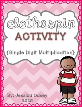 Multiplication Clothespin Math Activity