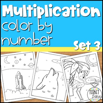 Multiplication Color By Number Math Activity Sheets 1-12: