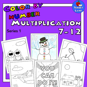 Multiplication Coloring Sheets 7 - 12