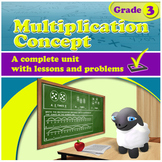 Multiplication Concept - grade 3, common core