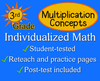 Multiplication Concepts, 3rd grade - Individualized Math -