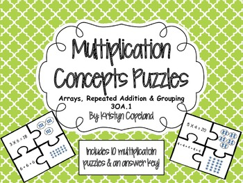 Multiplication Concepts Puzzle