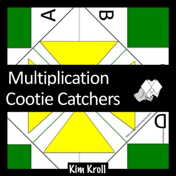 Multiplication Cootie Catcher (Multiples 2-12) Set of 20