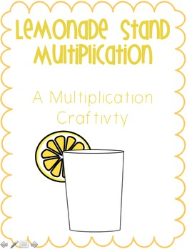 Multiplication Craftivity: Lemonade