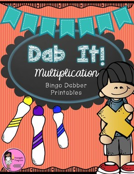Multiplication Dabber Activites {Dab It! Series}