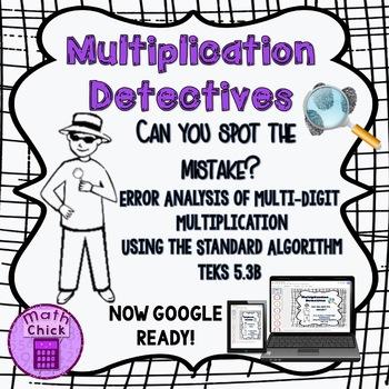 Multiplication Detectives: Standard Algorithm Error Analys