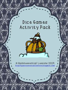 Multiplication Dice Games - Winter Theme
