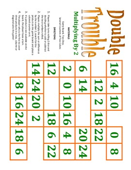 Multiplication Dice Games to Practice Times Tables from 2