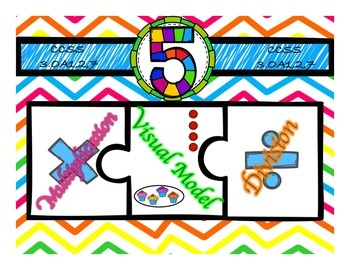 Multiplication & Division 5s Puzzle with Visual Model