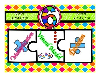 Multiplication & Division 6s Puzzle with Visual Model