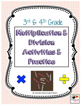 Multiplication & Division Activities and Practice
