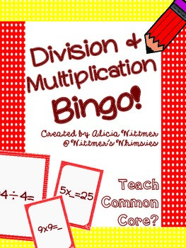 Multiplication & Division Bingo! {Whole Group or Small Gro