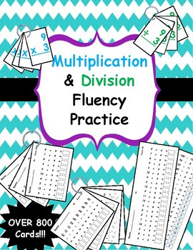 Multiplication & Division Fluency Practice - Flashcards &