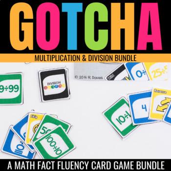 Multiplication & Division Gotcha Bundle: Fact Fluency Card Games