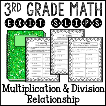 Multiplication Division Inverse Operation Relationship Mat