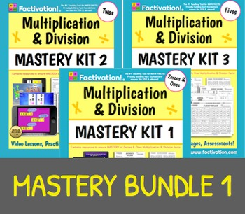 Multiplication/Division Mastery BUNDLE 1 (Includes Mastery