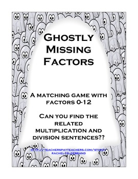Ghosts Multiplication / Division Match Up: Aligned to the