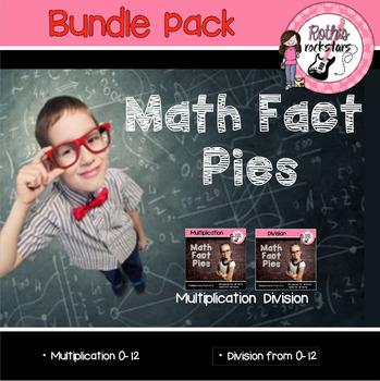 Multiplication/Division Math Fact Pies BUNDLE Pack