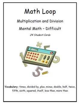 """""""I Have... Who Has..."""" Multiplication & Division (Level -"""